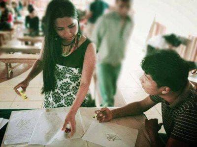 Atelier pour la jeunesse à Sarayaku. Photographie fournie par Abigail Gualinga.