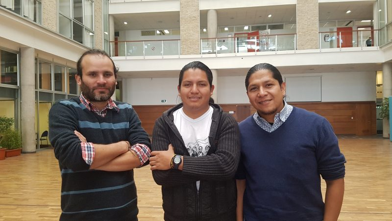 Andrés Tapia, Apawki Castro et Juan Diego Andrango ont participé à la première série du projet de Reframed Stories.